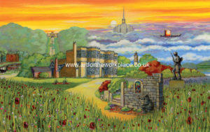 Chorley Springtime prints for purchase - Art for the Workplace