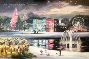 Chorley Winter Christmas cards available to purchase - Art for the Workplace