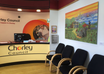 Chorley Springtime painting in town hall